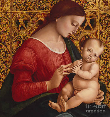 Jesus Art Painting - Madonna And Child by Luca Signorelli