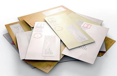 Mail Stack Art Print by Allan Swart