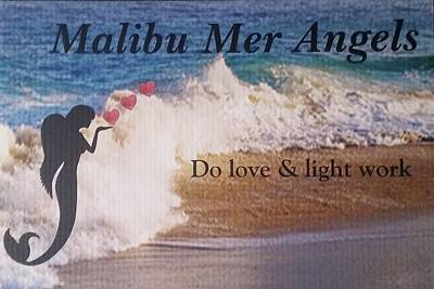 Angel Mermaids Ocean Digital Art - Malibu Mer Angels by Chrystyna Wolford