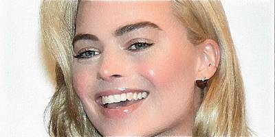 Actrice Digital Art - Margot Robbie Portrait by Best Actors