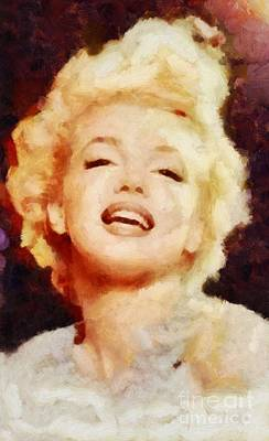 Actors Royalty-Free and Rights-Managed Images - Marilyn Monroe Vintage Hollywood Actress by Sarah Kirk
