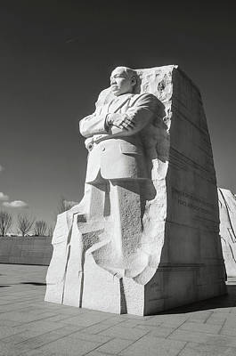 Photograph - Martin Luther King Jr Statue by Brandon Bourdages