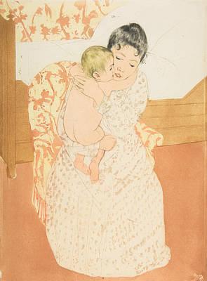 Relief - Maternal Caress by Mary Cassatt