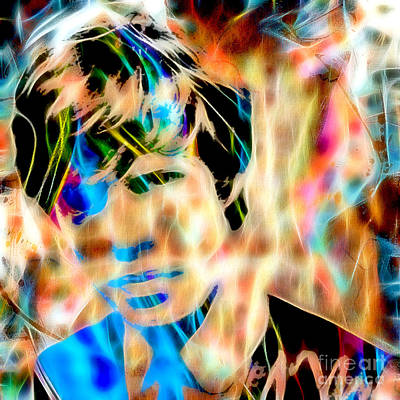 Rock N Roll Mixed Media - Mick Jagger Of The Rolling Stones1964 Painting by Marvin Blaine