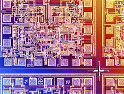 Microchip Photograph - Microchip, Light Micrograph by Pasieka