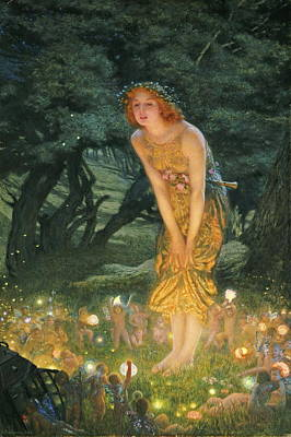 Little People Painting - Midsummer Eve by Edward Robert Hughes