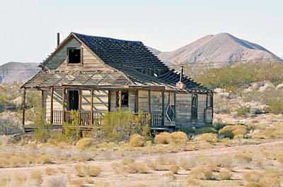 Rosamond California Photograph - Mining Town by Larry Holt