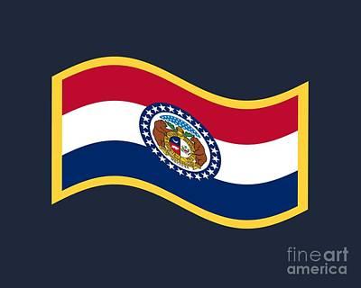 Missouri Flag Original by Frederick Holiday