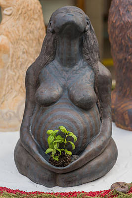 Sculpture - Moist Mother Earth by Kristen R Kennedy