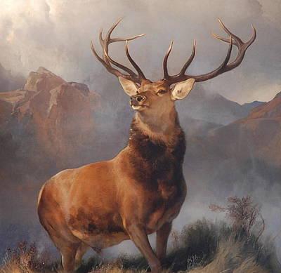 Glen Painting - Monarch Of The Glen by Edwin Landseer