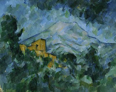 Painting - Mont Sainte-victoire And Chateau Noir by Paul Cezanne
