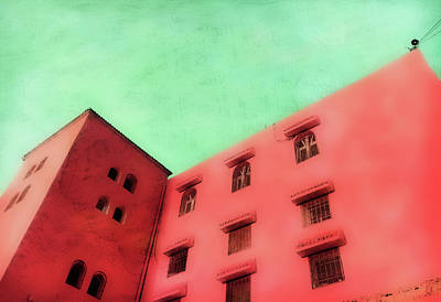 Moroccan Building Art Print by Tom Gowanlock