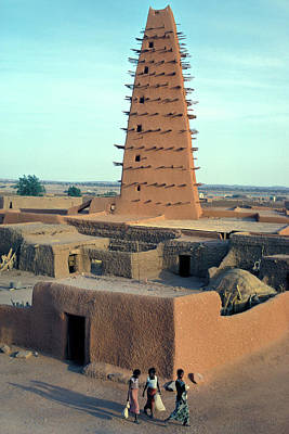 Photograph - Mosque In Bomako, Niger by Carl Purcell
