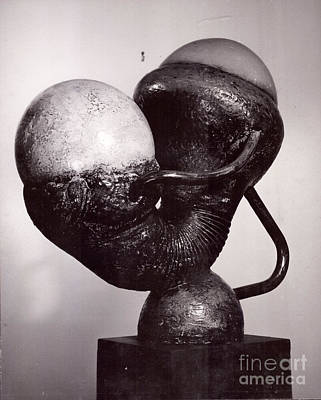 Sculpture - Mother/child I  by Robert F Battles