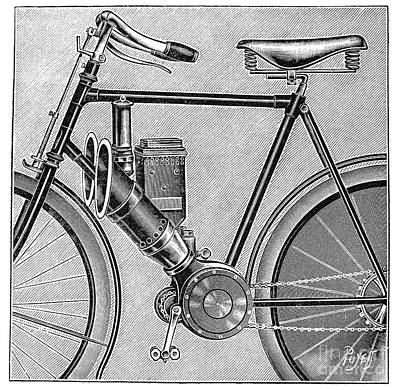 Photograph - Motorcycle, 1895 by Granger