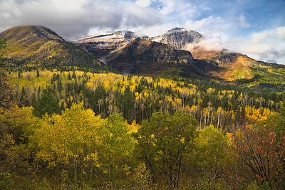 Photograph - Mount Timpanogos In Autumn by Douglas Pulsipher