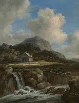 Painting - Mountain Torrent by Jacob van Ruisdael