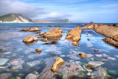 Ledge Photograph - Mupe Bay - England by Joana Kruse