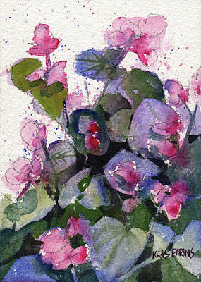 Painting - My Annual Begonias by Kris Parins