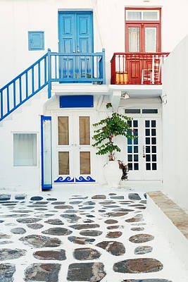 Photograph - Mykonos Street by Songquan Deng