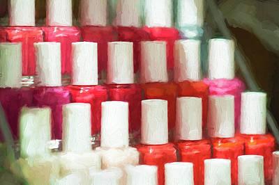 Photograph - Nail Polish Jars Spa  by Rich Franco