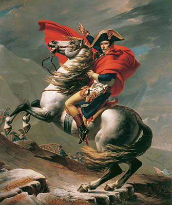 Horseback Painting - Napoleon Crossing The Alps by Jacques-Louis David
