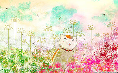 Design Wall Art - Digital Art - Natsume's Book Of Friends by Super Lovely