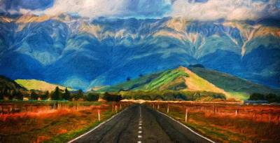 Sky Painting - Nature Pictures Of Oil Paintings Landscape by Margaret J Rocha
