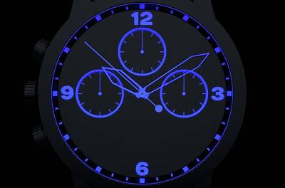 Cgi Digital Art - Neon Watch Face by Allan Swart