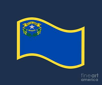 Nevada Flag Art Print by Frederick Holiday