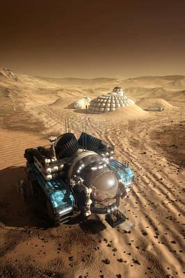 Mars Exploration Vehicle Art Print by Bryan Versteeg