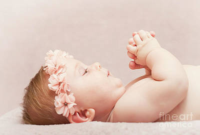 Photograph - Newborn Fine Portrait by Gualtiero Boffi