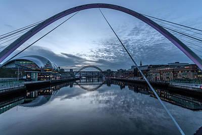 Photograph - Newcastle Quayside And Sage Gateshead by David Pringle