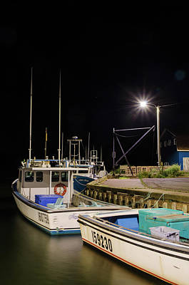 Photograph - Nightime On The Wharf. by Rob Huntley
