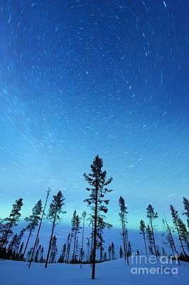 Snowy Night Photograph - Northern Lights by Jeremy Walker