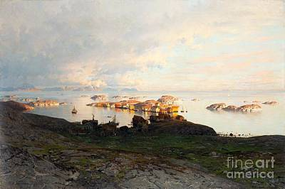 Seas Painting - Norwegian Fjord Landscape by Celestial Images