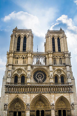 Photograph - Notre Dame Cathedral In Paris by Nila Newsom