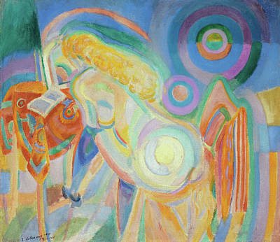 Circular Painting - Nude Woman Reading by Robert Delaunay