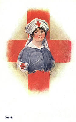 Drawing - Nurse, C1914.  by Granger