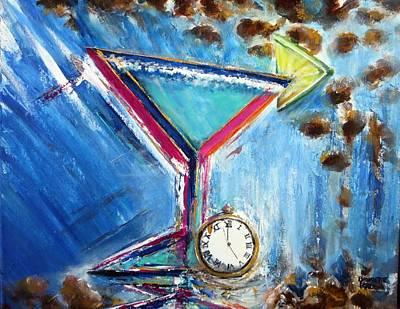 Painting - 5 O'clock Margarita  by Bernadette Krupa