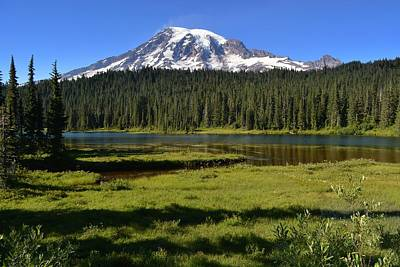 Photograph - 5 O'clock Shadows At Mt Rainier by Lori Seaman