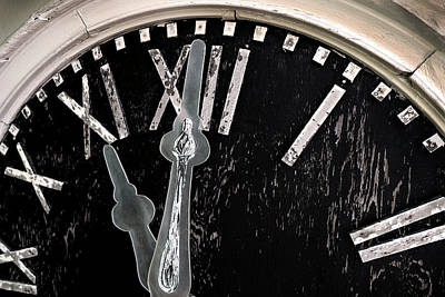 Photograph - 11 O'clock On Abandoned Old Clock by Phil Cardamone