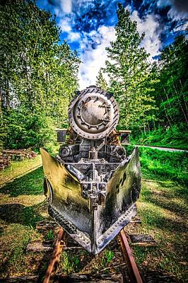 Photograph - Old Retired White Pass Train In Skagway Alaska by Alex Grichenko