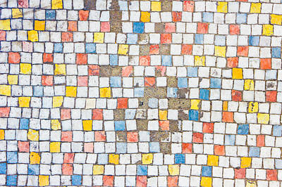 Mosaic Photograph - Old Tiles by Tom Gowanlock