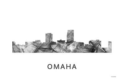 Omaha Nebraska Art Digital Art - Omaha Nebraska Skyline by Marlene Watson