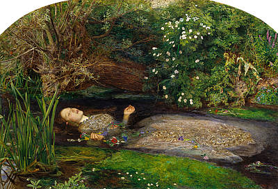 Painting - Ophelia by John Everett Millais