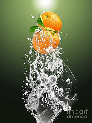 Orange Splash Art Print by Marvin Blaine