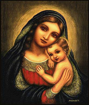 Oval Madonna Art Print