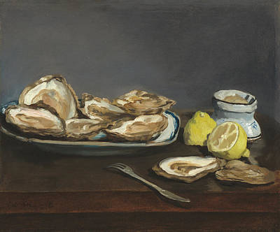 Painting - Oysters by Edouard Manet