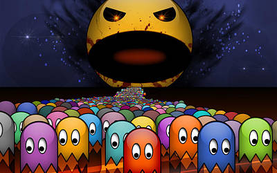 Pac Man Digital Art - Pac Man                     by F S